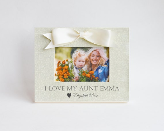 Aunt Birthday Gift Personalized Picture Frame Auntie