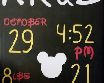 Canvas! Mickey Mouse Birth stats