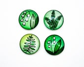 lily of the valley glass fridge magnet botanical art magnet lily valley plant magnet lilly