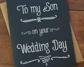 To My Son On Your Wedding Day - Wedding Day Card - Mother of the Groom Gift