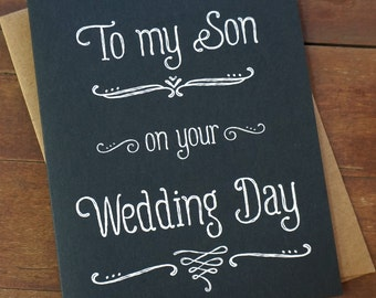 Son Wedding Gift for Son in law Gift - To My Son On Your Wedding Day - Step Son Wedding Card for Son My Son Wedding Card Today a Groom