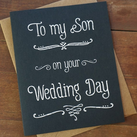 Wedding Gift For My Son : To My Son On Your Wedding DayWedding Day CardMother of the Groom ...