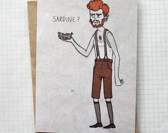 Sardine? - Illustrated Card - Movie Art Card