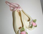 Vintage Ceramic Wall Hanging Ballet Shoes
