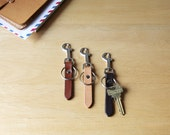 Leather Key Ring w/ Belt Clip