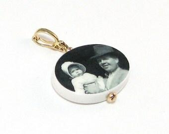 Oval Photo Pendant - 14K Gold Edition - Medium - P10G