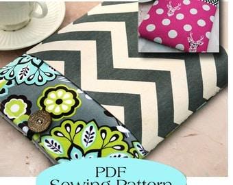Macbook 13 Sleeve with Pocket Pattern , Macbook Case Pattern, Macbook Cover PDF Sewing Pattern Ebook Sewing Tutorial, Instand Download