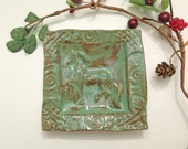 Horse Trinket Dish in Forest Green