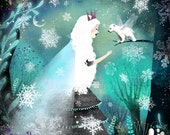Snow Queen and Fairy Bear - open edition print