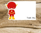 Superhero Friends Party Collection - Set of 8 Flash Thank You Cards by The Birthday House