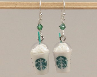 Miniature Food Starbucks Frappuccino Earrings