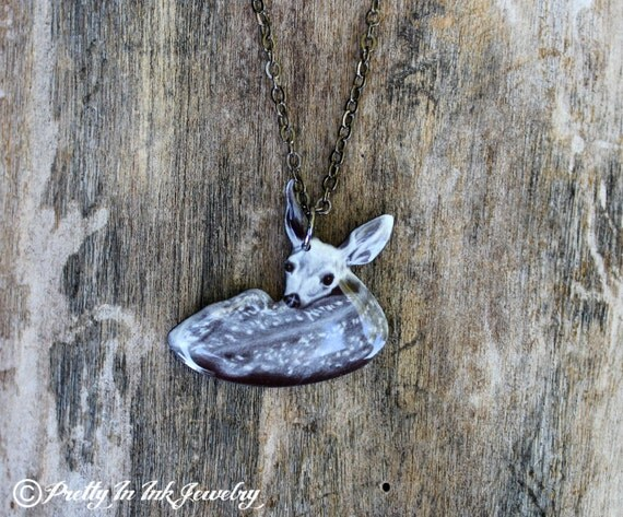 CLEARANCE - Little Fawn - Baby Deer Necklace