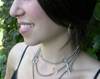 Sterling Silver Wrap Necklace, Bracelet, Belt