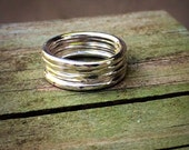 Lightly textured sterling silver knuckle ring