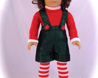 American Girl Doll sized Fancy Christmas Elf Costume