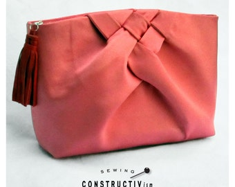 Sewing Pattern Fabric Clutch Purse with Weave Detail // PDF Instant Download