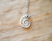 Nautilus Sterling Silver Charm Necklace