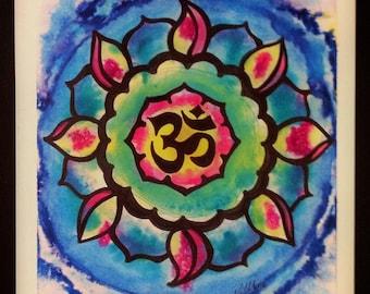 Om Mandala Print