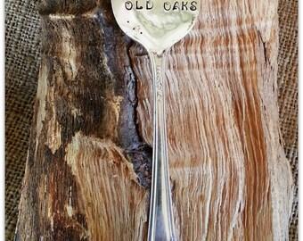 Vintage Spoon, Garden Marker,Faerie Folks, Old Oaks, Spoon Marker, Hand Stamped, Fairy Garden, Window Box, Plant Marker, Druid Rhyme, Fae