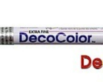 Marvy-Uchida     DecoColor   Opaque Paint Marker - Extra Fine  Point  BLACK Glossy Oil Base Paint Marker