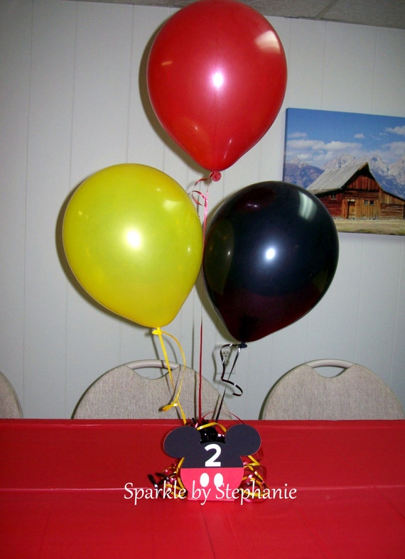 Mickey centerpiece balloon holder mouse custom