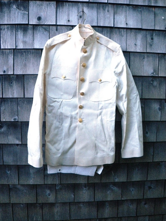 U.S. Marines USMC 2 White Dress Uniform Sets Jackets Pants