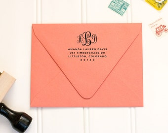Personalized Rubber Address Stamp by Paper & Parcel - No. 04