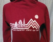 Backcountry State of Mind, AK, Womens Button Cowl Neck Hoody