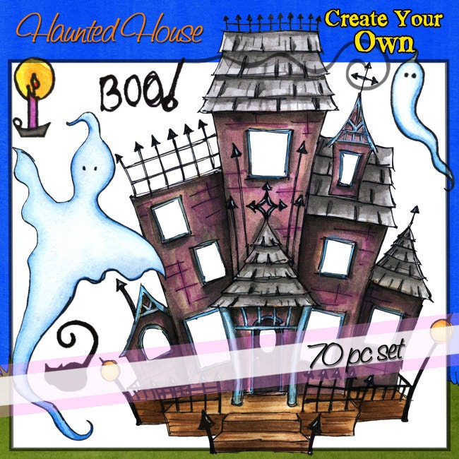 sale haunted house create your own downloadable clip art