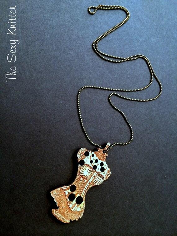Knitting Needle Gauge Necklace : Needle gauge necklace sexy victorian corset