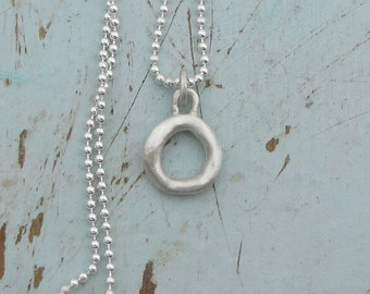 Silver Circle Necklace - Eternity Necklace - Sterling Silver Jewelry