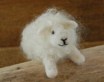 Needle Felted Sheep. Childs Toy. Needle Felt Sheep. Felted Farm Animal Stocking Stuffer. Wool Felt Animal. Kids Toy. Waldorf Toy