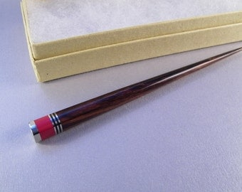 Red Hair Stick SHIPS IMMEDIATELY 5-5/8 inch Handmade Coral Red Desert Ironwood Hair Pick