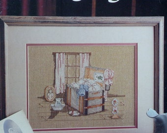 Counted Cross Stitch Pattern Paula Vaughan Vaughn LONG AGO By Leisure Arts