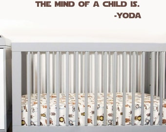 Truly Wonderful the Mind of a Child is | Yoda vinyl wall quote | Star Wars removable text wall decal | Jedi decor | FREE SHIPPING