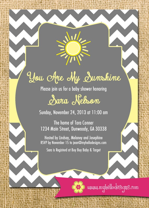 sunshine invitation you are my sunshine invite diy sun sunshine