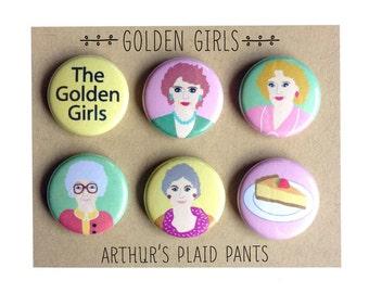 Golden Girls, Golden Girls magnets, Golden Girls magnet set, Betty White