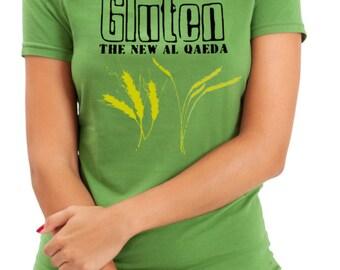Woman's Shirt, Gluten The New Al Qaeda, Funny T-Shirt, Woman's T-Shirt, Gluten, Gluten Free