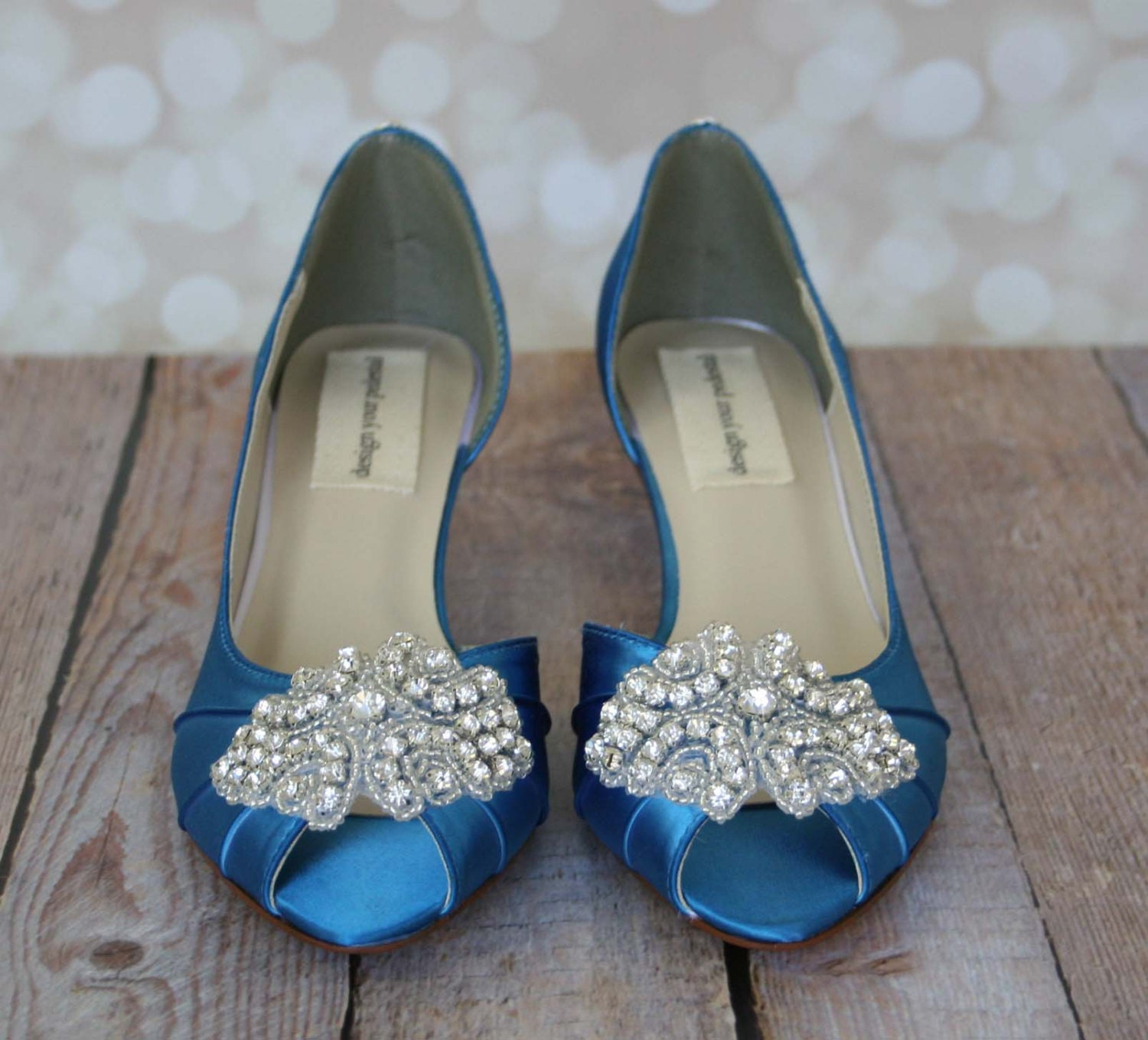 Blue Wedding Shoes Turquoise Peep Toe Wedding Shoes With
