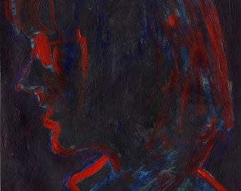 DO NOT BUY! - For Natasha's Consideration: Original Painting - 'Woman in Glasses in Profile' by Peter Mack