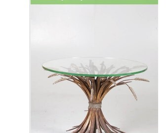 "French Gilt ""Sheaf of Wheat"" Table in the Style of Coco Chanel"