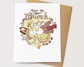 Brunch Card - blank inside