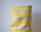 flexible storage basket - knit with woven lining - No.3