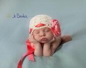 baby girl hat, newborn girl hat, crochet girls hat, baby hat, kids hat, girls hat, peony, hat with peony