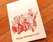 Happy Holidays Y'all - Pack of 5 Letterpress Cards