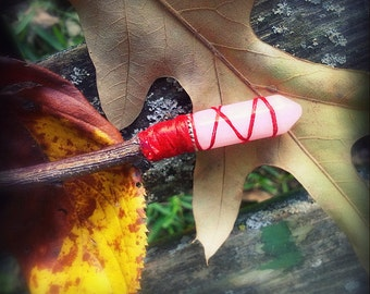 Celtic-Druidic-English Magic-Wand-Pay with PayPal get a free spell in the box! Made frmOak-Rose Qtz Crystal Tip-Silk Hand Dyed Thread Handle