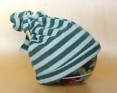 Ready To Ship: Newborn-6 Months Unisex Upcycled Hat