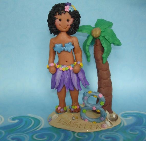 Hula Girl Birthday Cake Topper