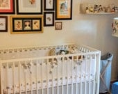 Crib Skirt, Neutral Baby Bedding, Imperial Cotton, 50 custom colors, Made to Order