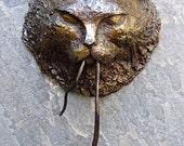 Original bronze cat & mouse door knocker